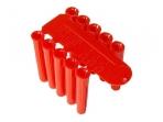 D5,5 plastikiniai kaiščiai, raudoni, 100vnt