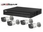 Dahua vaizdo stebėjimo komplektas. 4 IP kameros ir įrašymo įrenginys