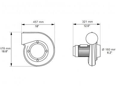 Išcentrinis ventiliatorius N16 3f 2