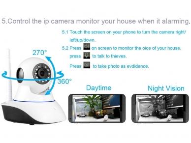 Belaidė IP video kamera - wi-fi signalizacijos sistema 2 in 1 4