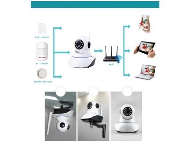 Belaidė IP video kamera - wi-fi signalizacijos sistema 2 in 1 5