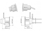 Apsauginės signalizacijos magnetokontaktinis jutiklis SD-70