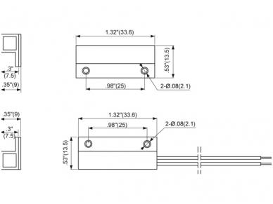 Apsaugos signalizacijos magnetokontaktinis jutiklis FM102 2