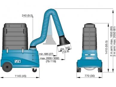 Mobilus suvirinimo dūmų nutraukimo filtras FilterCart W3 3