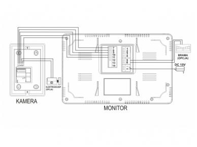 Video telefonspynė su kortelių/pakabukų skaitytuvu OR-VID-VP-1028 3